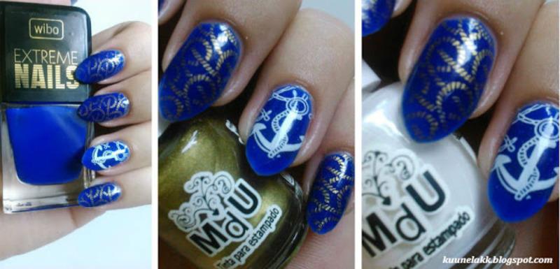 Sailor #2 nail art by Trii