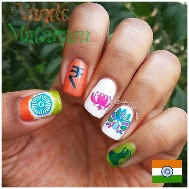 Indian Independence Day Nail Art nail art by Shailee