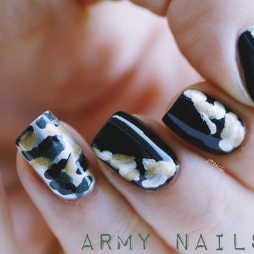 army nails nail art by Pmabelle