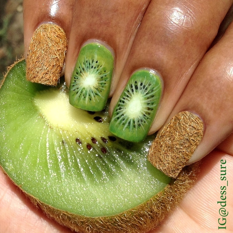 The hairy fruit nail art by Dess_sure