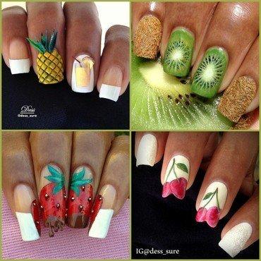 Fruit Salad nail art by Dess_sure