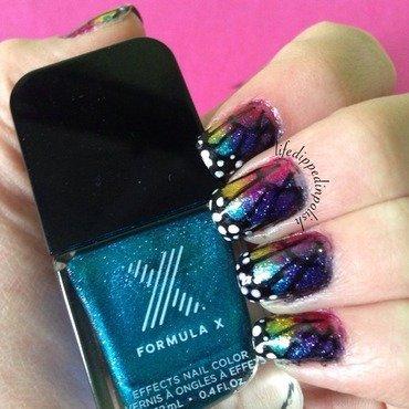 Butterfly Wing Mani nail art by lifedippedinpolish