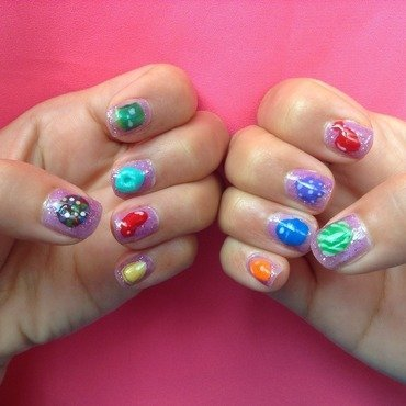Soda Crush (video games series) nail art by Idreaminpolish