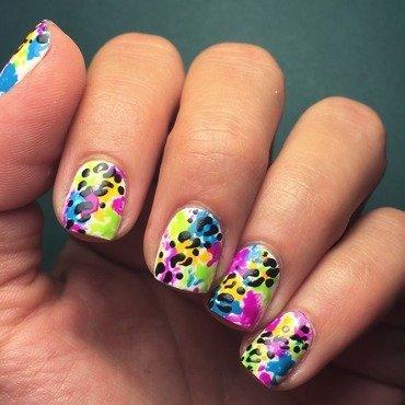 Splatter leopard nail art by Ashley