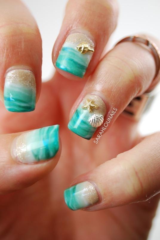 Beach Nails nail art by Sarah S