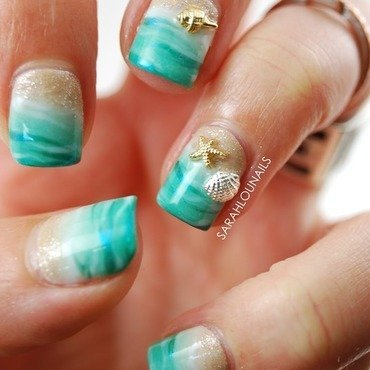 Beach Nails nail art by Sarah S