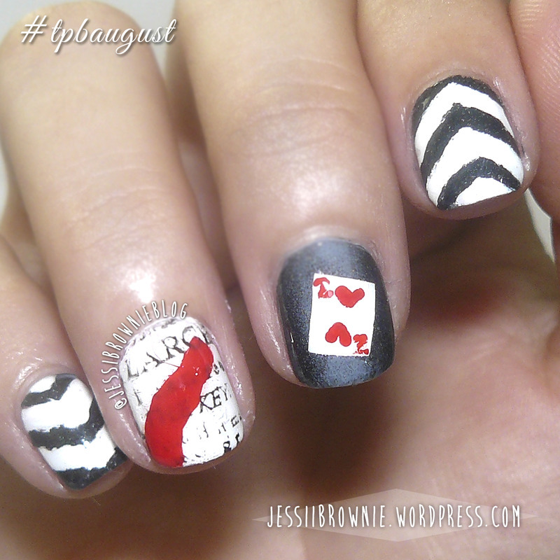The Night Circus nail art (the polished bookworms) nail art by Jessi Brownie (Jessi)