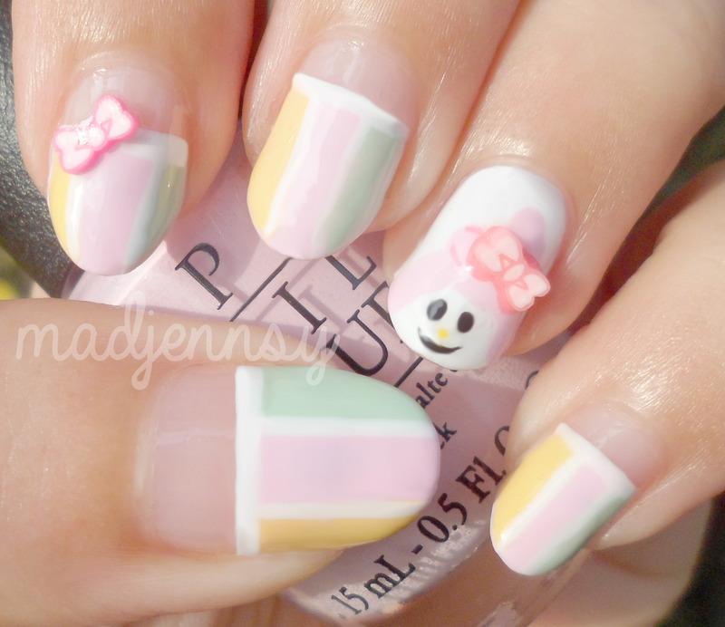 My Melody Nail Art nail art by madjennsy Nail Art