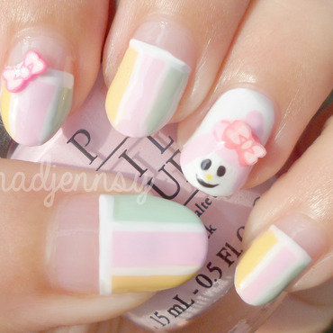 My Melody Nail Art nail art by madjennsy Nail Art