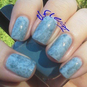 Saran Wrap mani nail art by Jenette Maitland-Tomblin