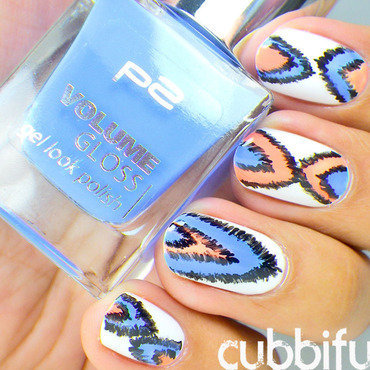 Ikat Nails nail art by Cubbiful