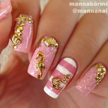 sailor nail nail art by Marianna Kovács