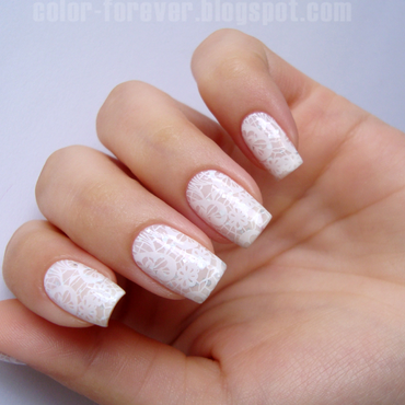 bridal nails nail art by ania