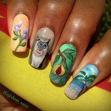 Caribbean Island nail art by Dess_sure