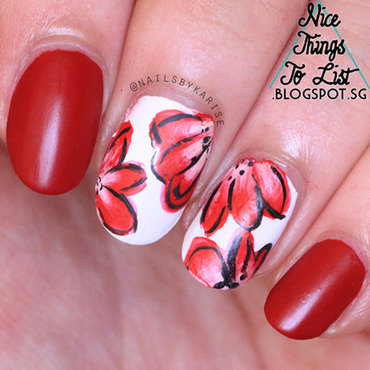 31dc2015 red one stroke flowers nail art 20  20copy thumb370f