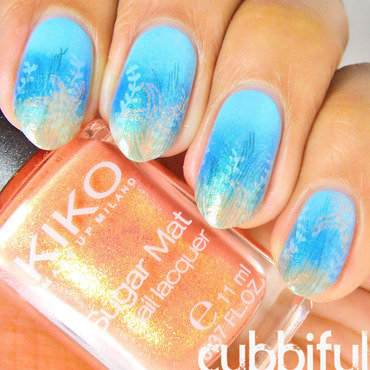 Underwater Stamping nail art by Cubbiful