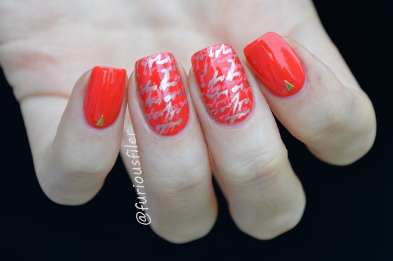 31DC2015 Day 1 Red nail art by Furious Filer