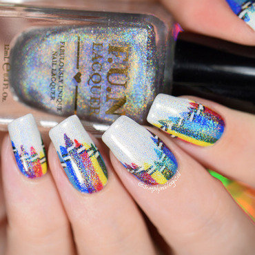 Back to school HOLO crayons nail art by simplynailogical