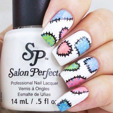 Stitch Nails nail art by Beauty Intact