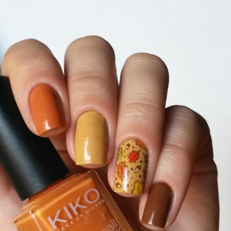 Warm Autumn nail art by marina