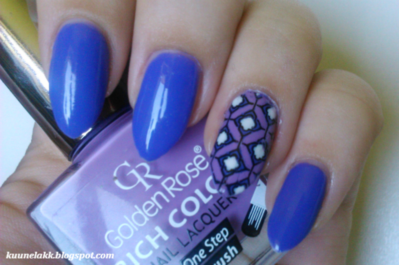 purple mix nail art by Trii