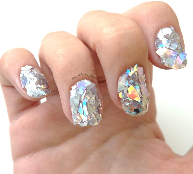 Shattered mirror nails nail art by no nails no fshn nailpolis shattered mirror nails nail art by no nails no fshn prinsesfo Choice Image