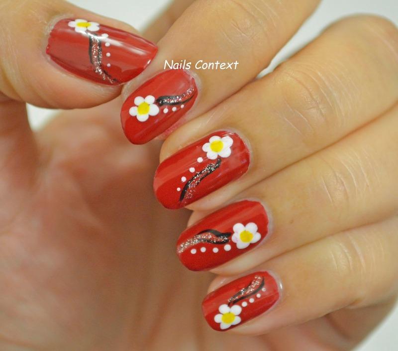 Red Nails  nail art by NailsContext