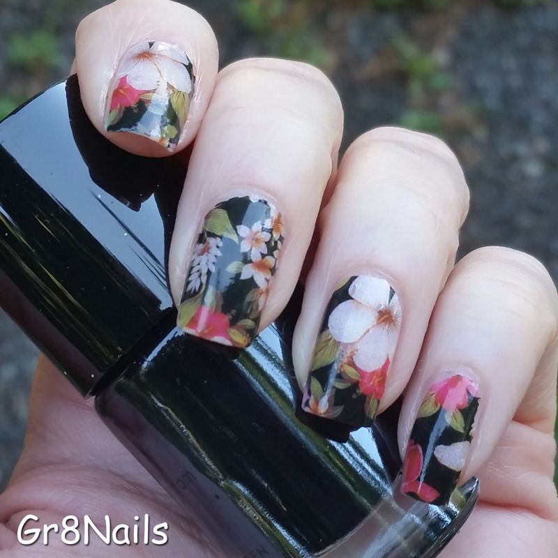 Decals nail art by Gr8Nails