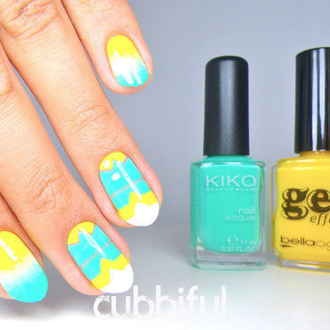 Summer Nails nail art by Cubbiful