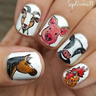 Farm animals  nail art by SydVicious