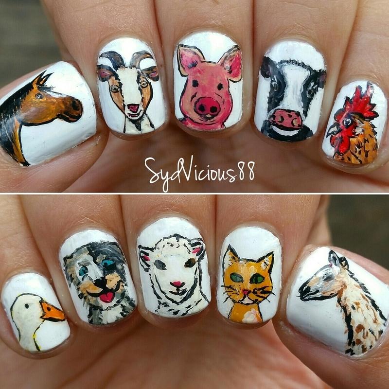 A little farm nail art by SydVicious