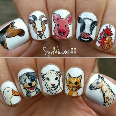 A little farm nail art by SydVicious