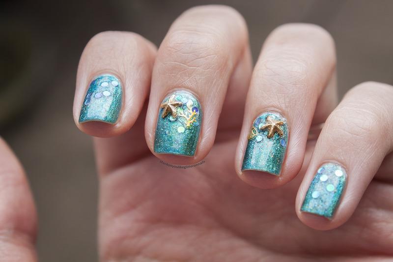 in the ocean nail art by Jule