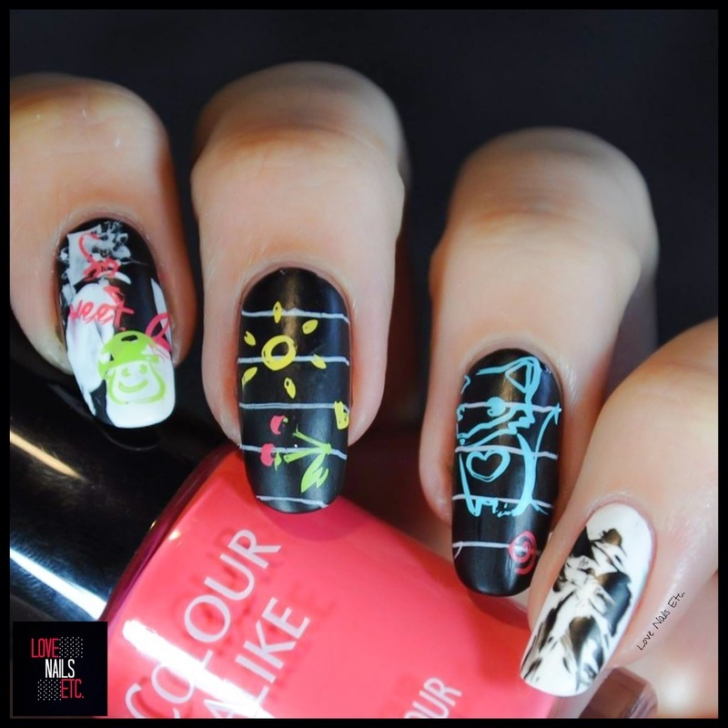 Back to School! nail art by Love Nails Etc