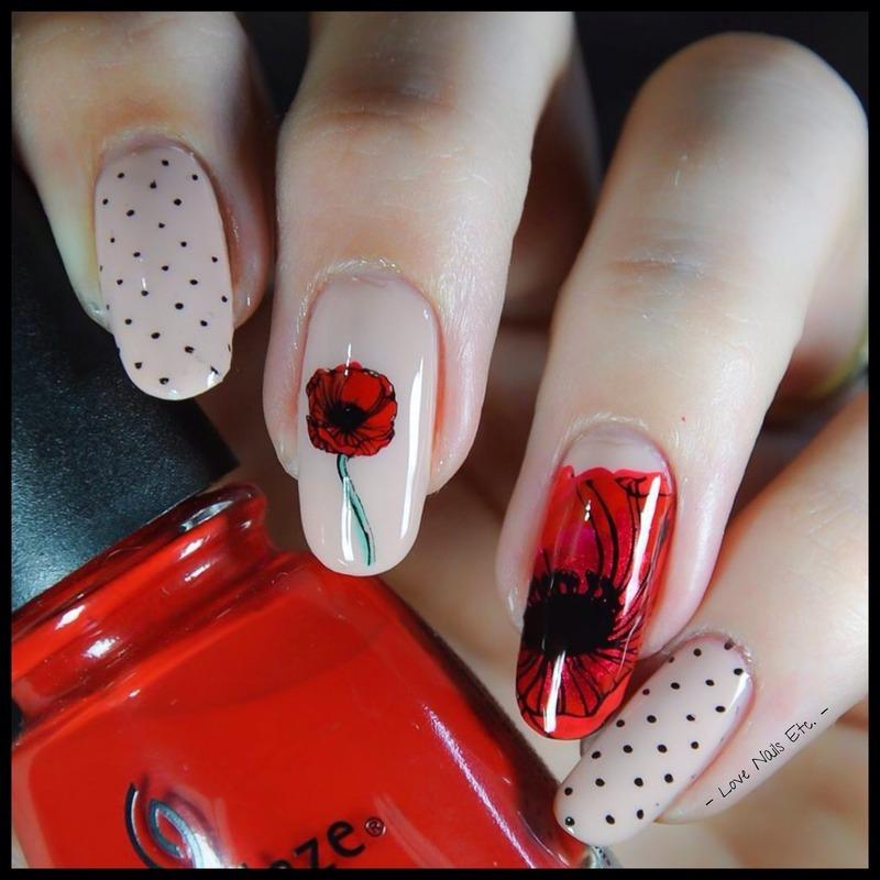 Poppy Nails nail art by Love Nails Etc - Nailpolis: Museum of Nail Art