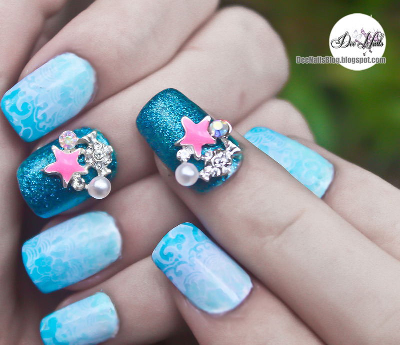 3D star fish design nail art by Diana Livesay
