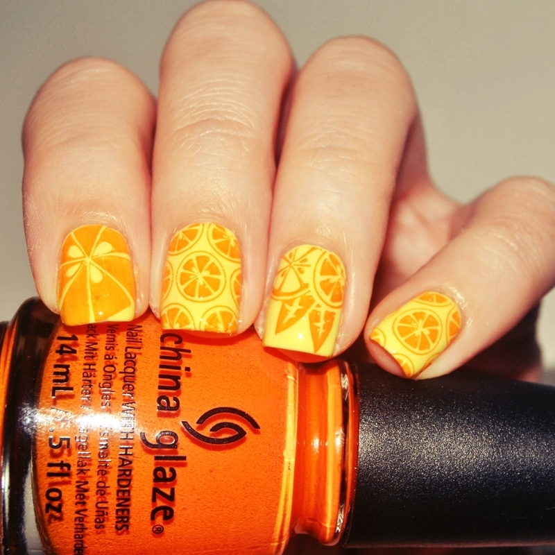 [#31DC2015] Orange Nails  nail art by Lackopfer