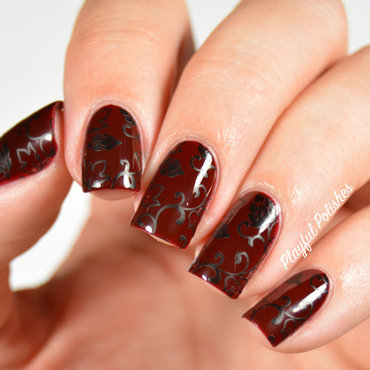 31DC2015 Day 1: Red Nails nail art by Playful Polishes