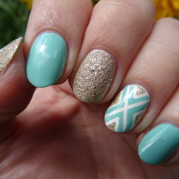Daughter minty nails nail art by Nail Crazinesss