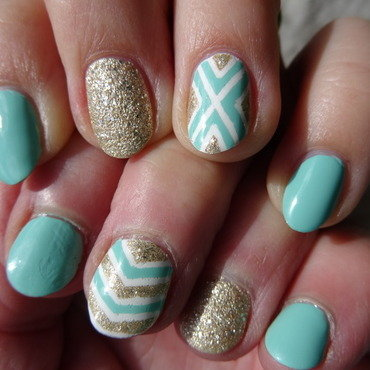 Mother and daughter minty nails nail art by Nail Crazinesss