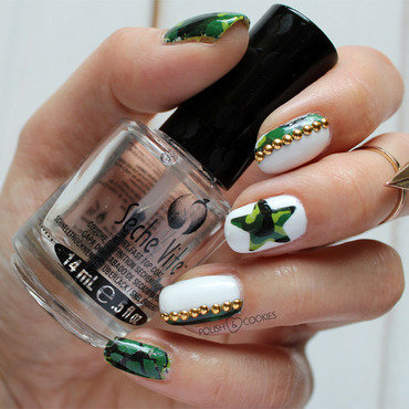 Camouflage Nails nail art by PolishCookie