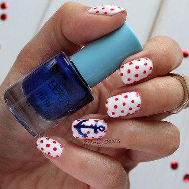 Nautical Mani nail art by PolishCookie