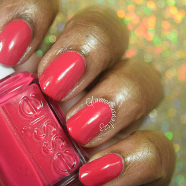 Essie watermelon Swatch by glamorousnails23