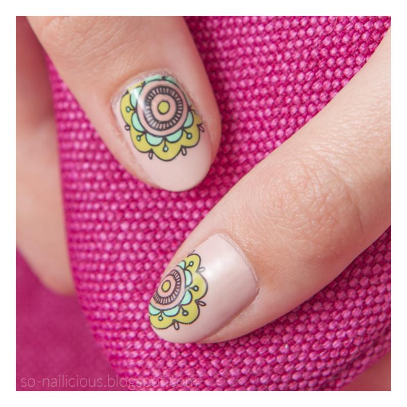 Reverse nail art by Magdalena