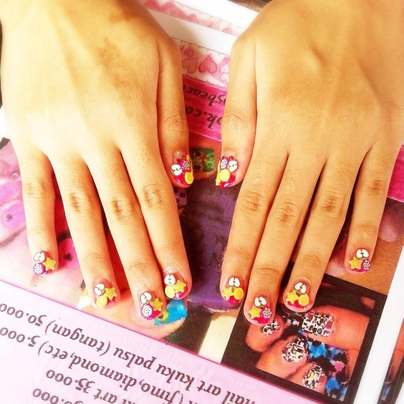 3D Tutty Fruity nail art by moii phing