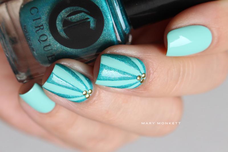 Cerrillos nail art by Mary Monkett
