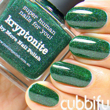 piCture pOlish Kryptonite Swatch by Cubbiful