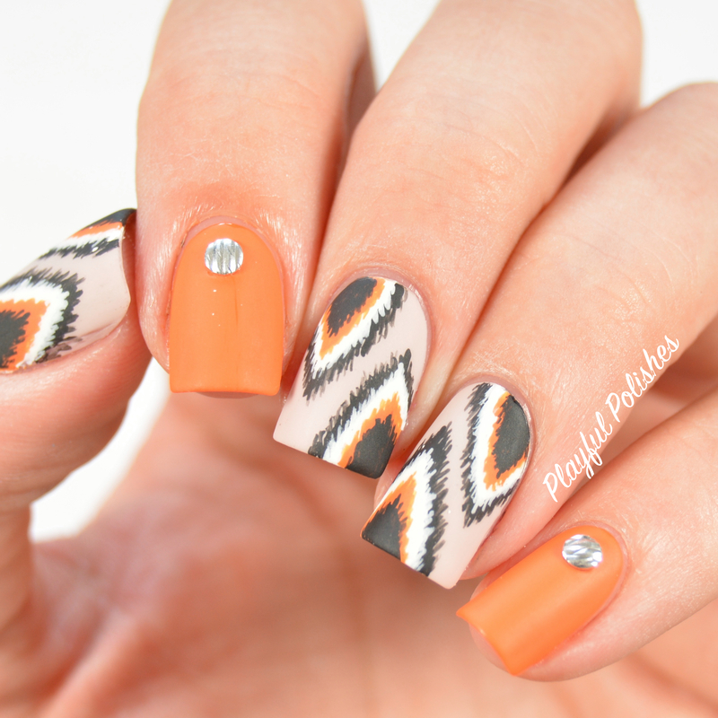 31DC2015 Day 2: Orange Nails nail art by Playful Polishes