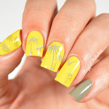 31DC2015 Day 3: Yellow Nails nail art by Playful Polishes