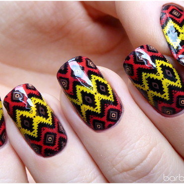 Etno nails nail art by barbrafeszyn